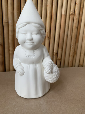 BRING BACK TO FIRE Ceramic Ms. Gnome Figurine Painting Kit