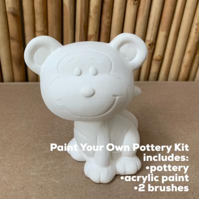 Ceramic Monkey Figurine Acrylic Painting Kit