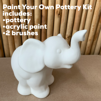 Ceramic Elephant Figurine Acrylic Painting Kit