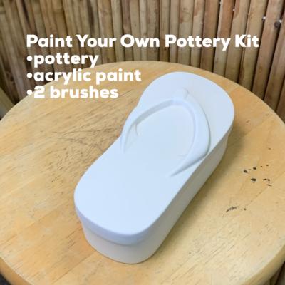 Ceramic Flip Flop Sandal Box Acrylic Painting Kit