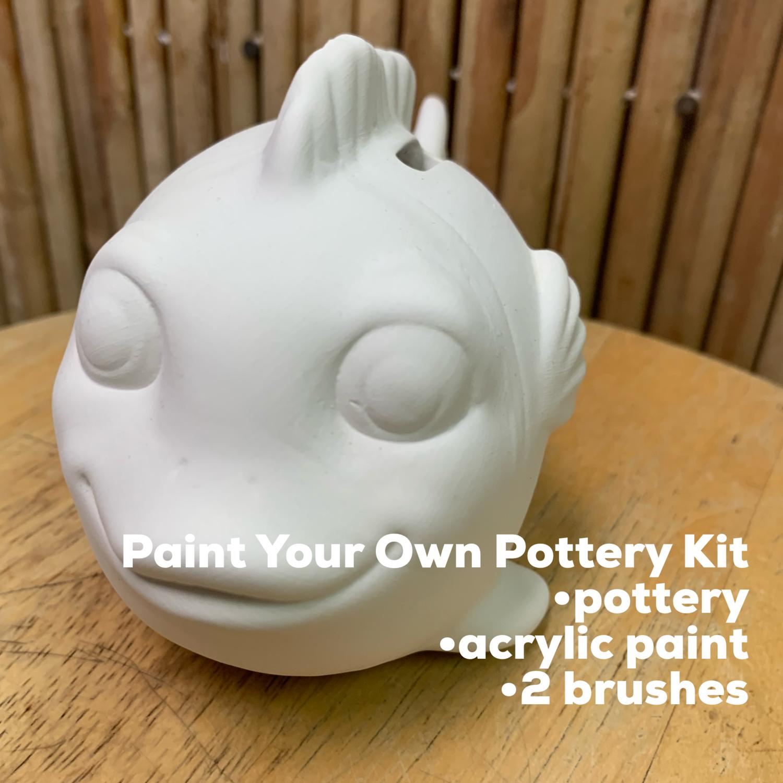 Ceramic Fish Bank Acrylic Painting Kit