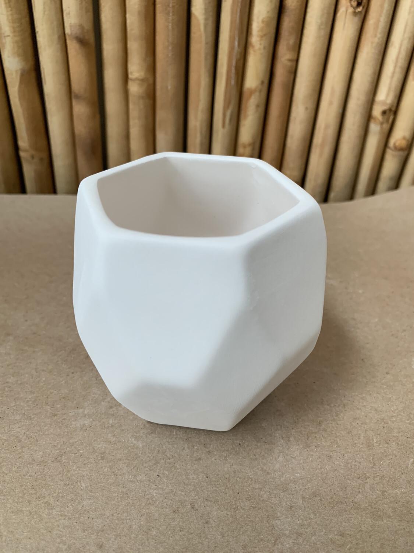 Ceramic Prism Succulent Planter Acrylic Painting Kit