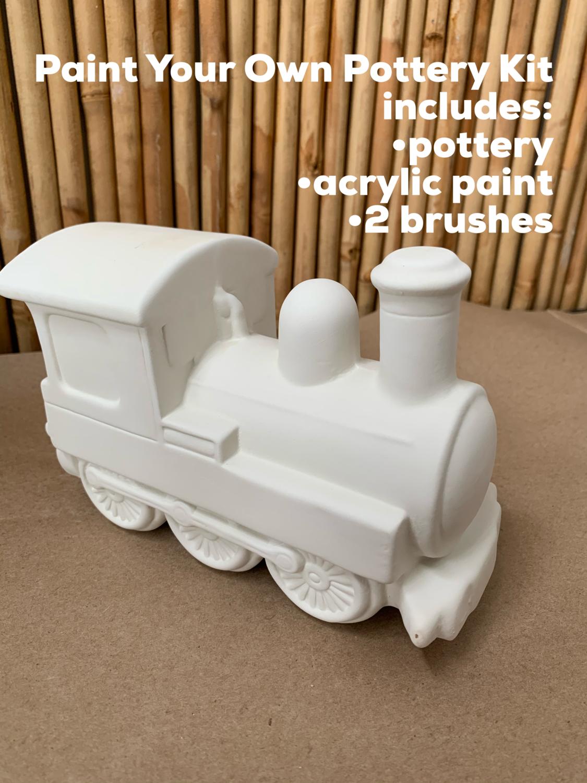 Ceramic Train Bank Acrylic Painting Kit