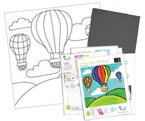 Hot Air Balloon Acrylic Paint On Canvas Kit