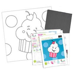 Hey Cupcake Acrylic Paint On Canvas Kit