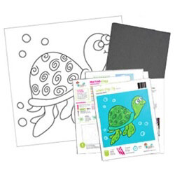 Swimming Sea Turtle Acrylic Paint On Canvas Kit
