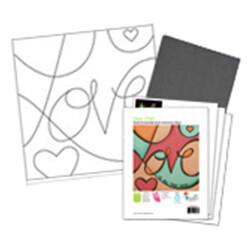 Love Pop Acrylic Paint On Canvas Kit