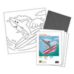 Shark on a Surfboard Acrylic Painti On Canvas Kit