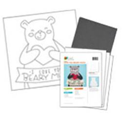 Teddy Bear Acrylic Paint On Canvas Kit