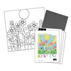 Blooming Flowers Acrylic Paint On Canvas Kit