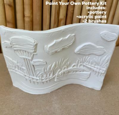 Ceramic Self Standing Stone Harbor Beach Tile Acrylic Painting Kit