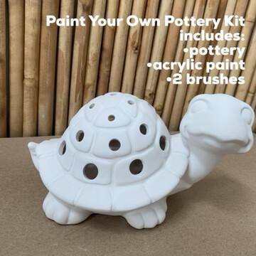 Ceramic Turtle Luminary Lantern Acrylic Painting Kit