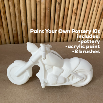 Ceramic Motorcycle Bank Acrylic Painting Kit