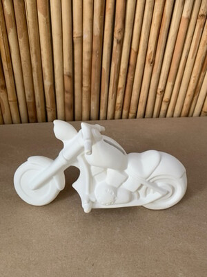Paint Your Own Pottery - Ceramic   Motorcycle Bank Painting Kit