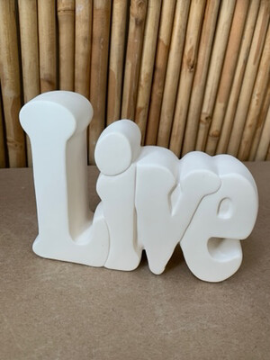 BRING BACK TO FIRE Ceramic Live Word Plaque Painting Kit