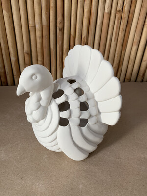 BRING BACK TO FIRE Ceramic Thanksgiving Turkey Luminary Lantern Painting Kit