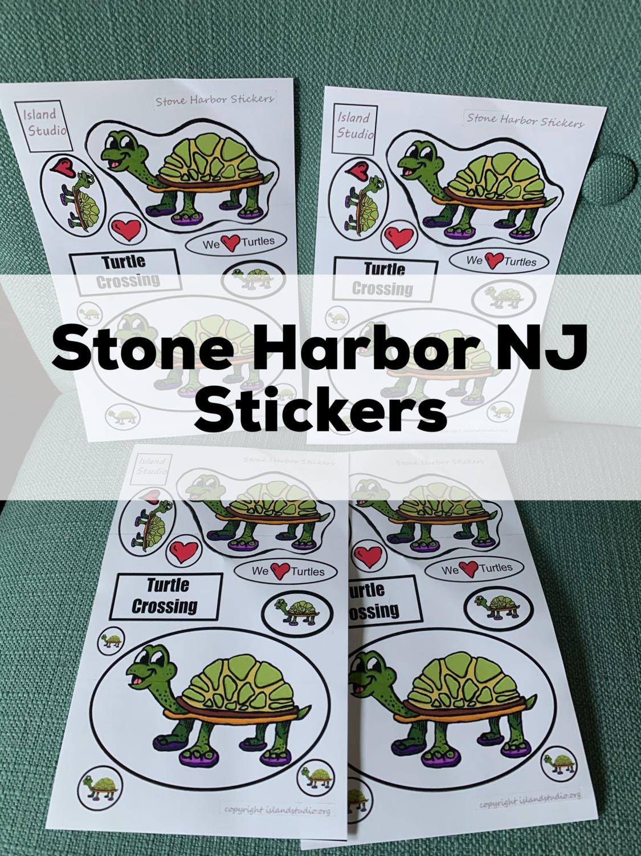 Stone Harbor New Jersey Turtle Stickers