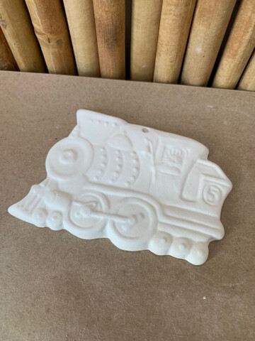 Paint Your Own Pottery - Ceramic   Train Ornament Painting Kit