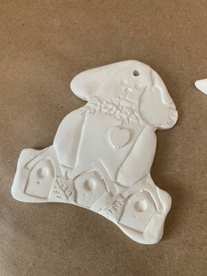 BRING BACK TO FIRE Ceramic Bird Dog Ornament Painting Kit