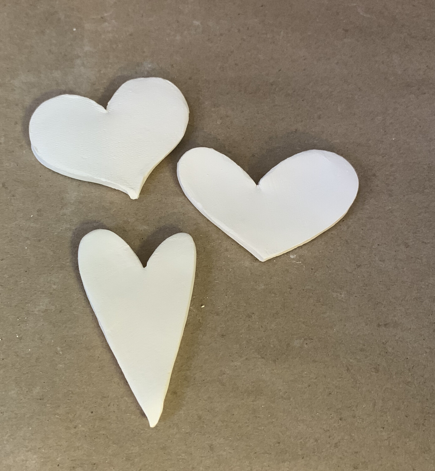 Paint Your Own Pottery - Ceramic   - Set of 3 Hearts