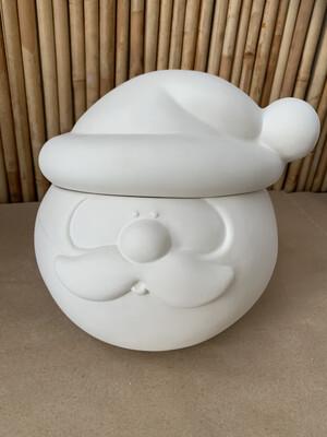 BRING BACK TO FIRE Ceramic Santa Cookie Jar Painting Kit