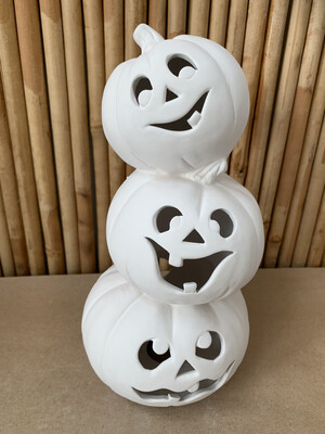 BRING BACK TO FIRE Ceramic Light Up Pumpkin Stack Painting Kit