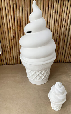 Paint Your Own Pottery - Ceramic   Gigantic Ice Cream Cone Bank Painting Kit