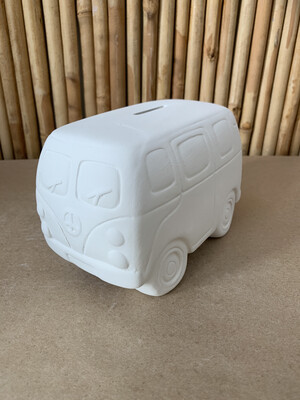 Paint Your Own Pottery - Ceramic   Hippie Van Bank Painting Kit
