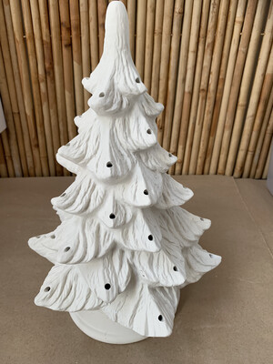 BRING BACK TO FIRE Ceramic Large Christmas Tree with Lights Painting Kit
