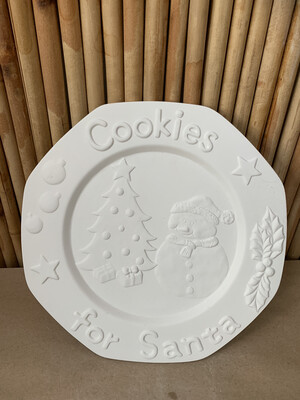 BRING BACK TO FIRE Ceramic Snowman Cookie Plate Painting Kit