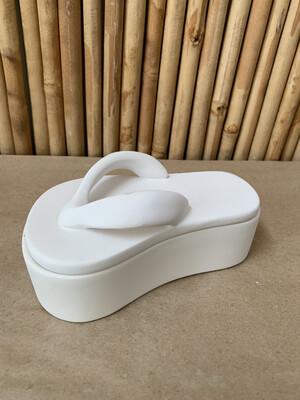 BRING BACK TO FIRE Ceramic Flip Flop Sandal Box Painting Kit