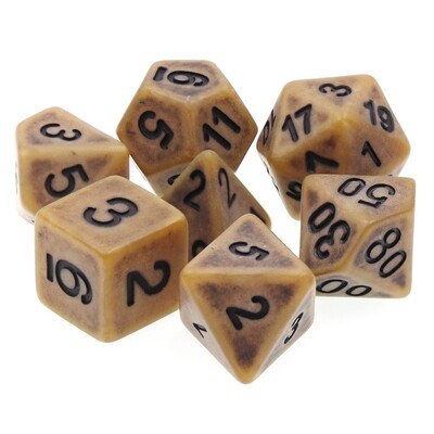 7 Die Set: Ancient Gold