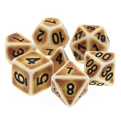 7 Die Set: Ancient Bone