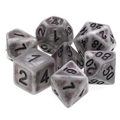 7 Die Set: Ancient Silver
