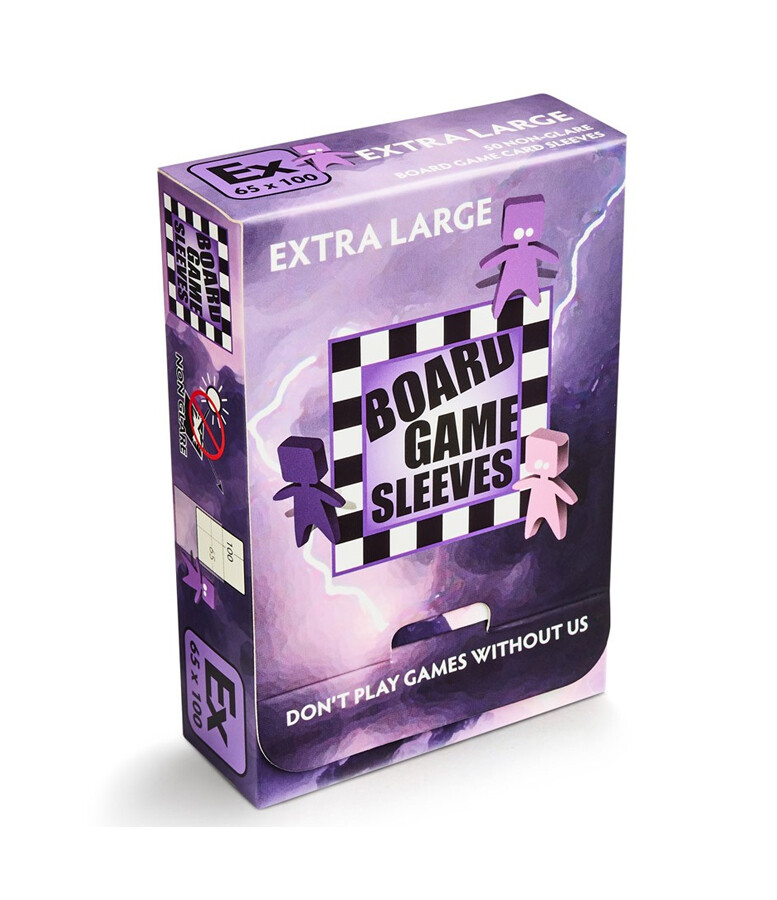 Board Game Sleeves: Extra Large 65x100mm (50ct)