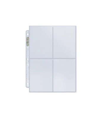 Binder Page 4-Pocket  3-1/2in x 5in Pockets