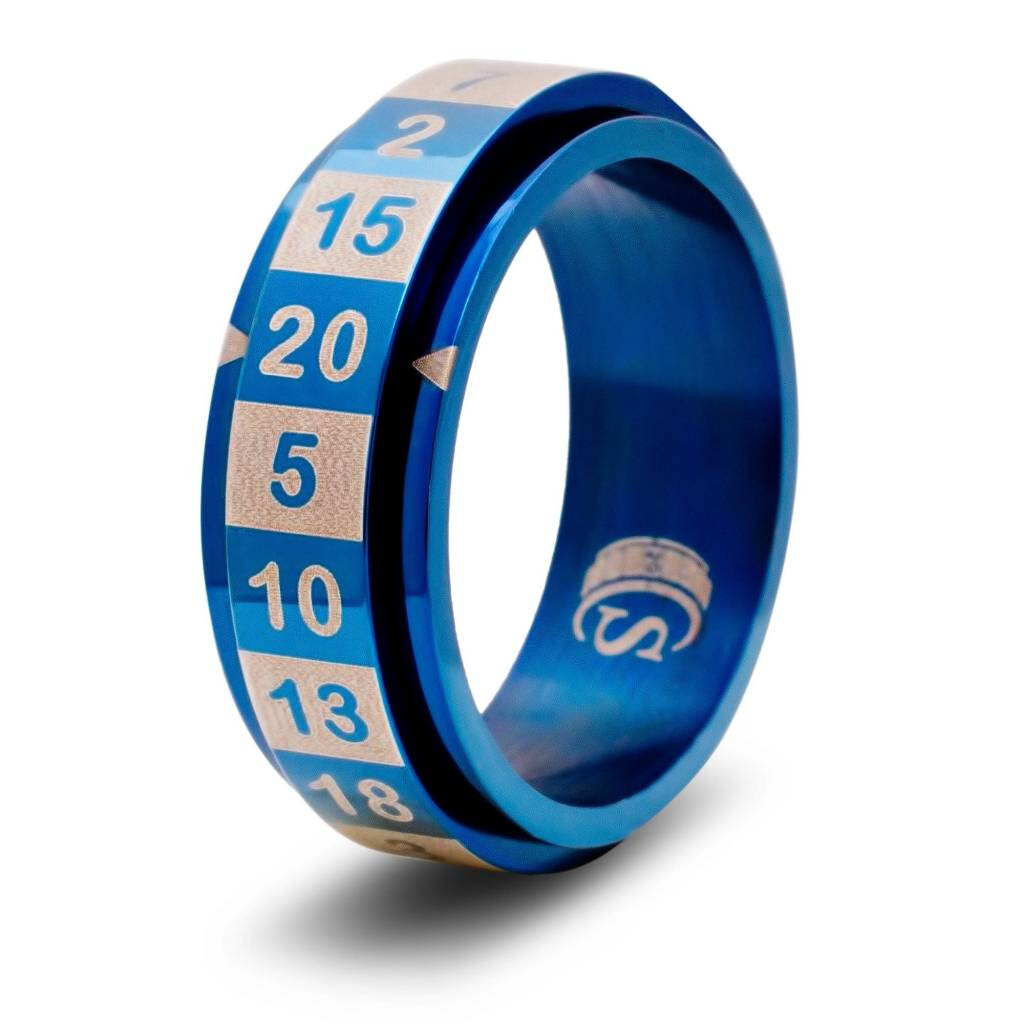 CritSuccess Ring: d20 Blue - Size 10
