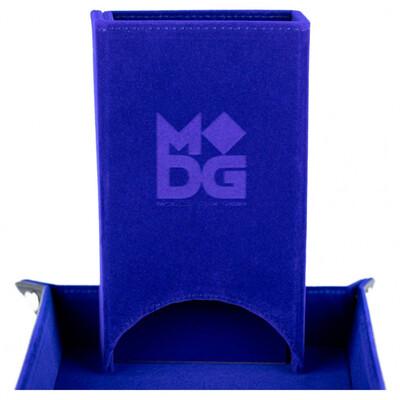 Velvet Fold Up Dice Tower: Blue