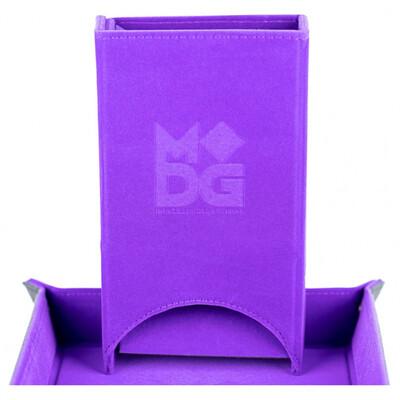 Velvet Fold Up Dice Tower: Purple