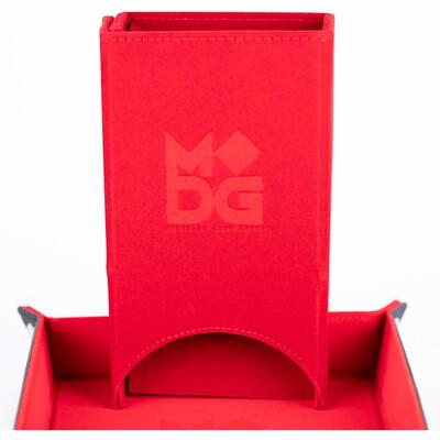 Velvet Fold Up Dice Tower: Red