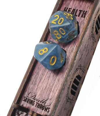 Engraved Wooden Dice Jail