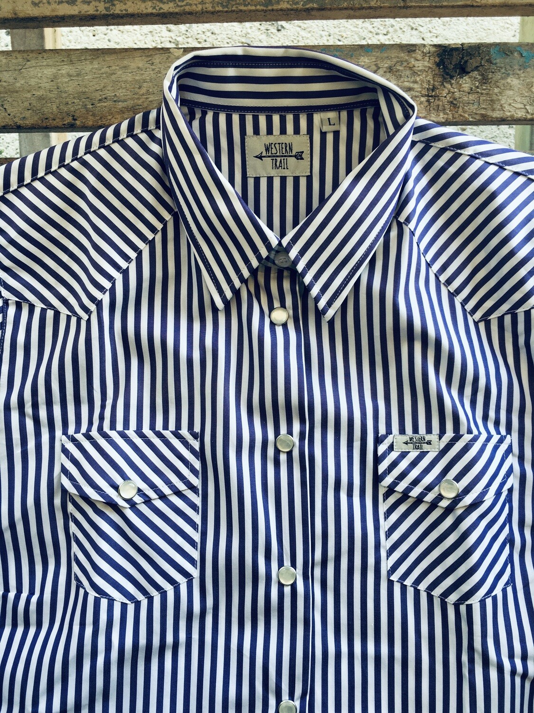 Camicia donna Stripes blue