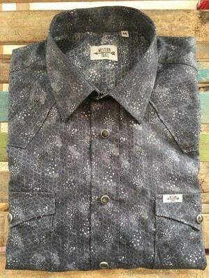 Camicia uomo-DARK FLOWER