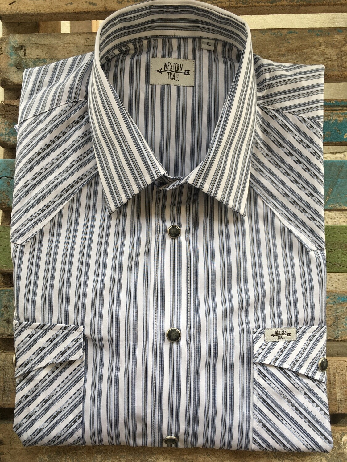 Camicia uomo-LIGHT BLUE STRIPES