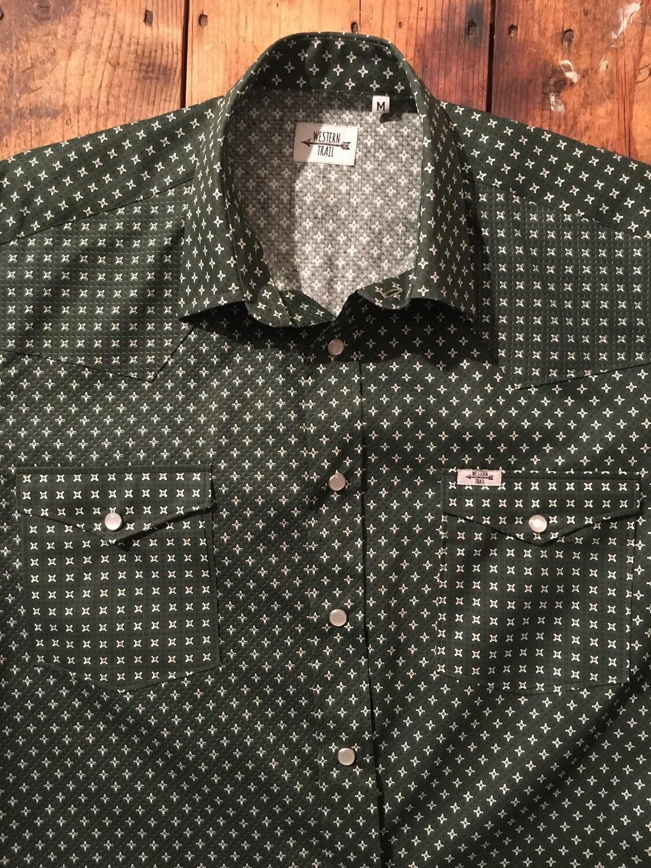 Camicia uomo-GREEN GEO