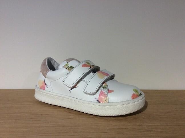 Papillon bianco+rose