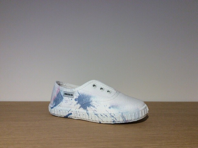 Loafer bianco+azurro