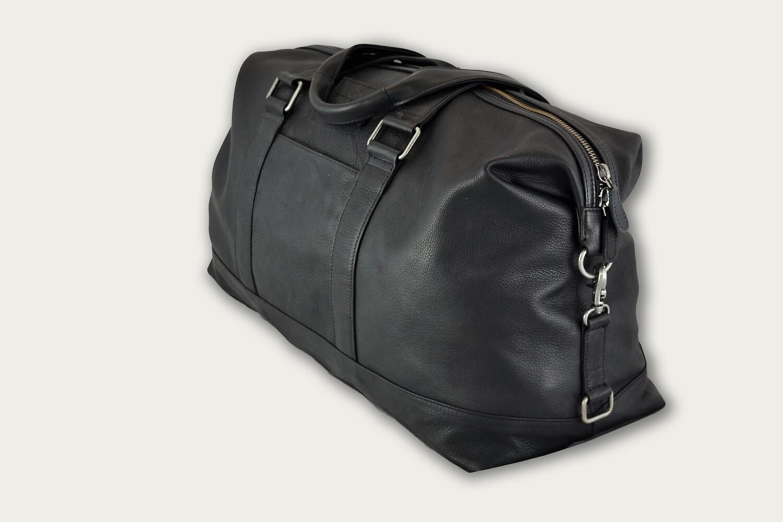Black leather Duffel Bag LLS-401