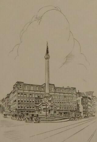 Troy's Monument Square circa 1925
