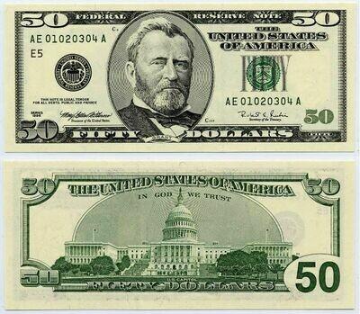 $50 dollars